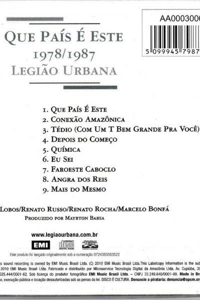 album Que país é este - Legião Urbana